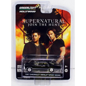 Supernatural Diecast Model 1/64 1967 Chevrolet Impala Sport Sedan