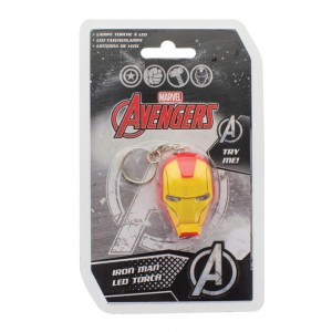 Porte-clés Iron Man casque lumineux