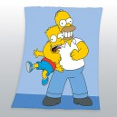 Couverture polaire Homer et Bart Simpson 125x150cm