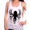 Débardeur Spider-Man femme blanc Araignée