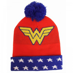 Wonder Woman beanie hat logo