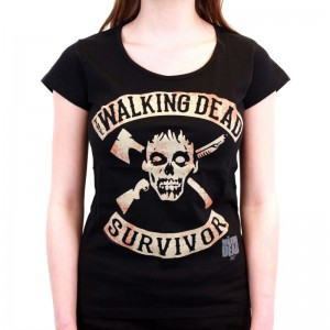 T-shirt femme Walking Dead Survivor