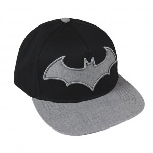 Black baseball cap Batman grey logo