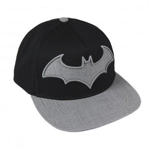 Casquette noire Batman Logo gris