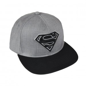 Grey baseball cap Superman black logo