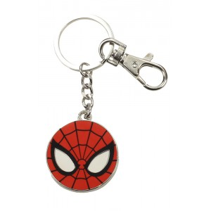 Porte-clés Spider-Man masque rond en métal