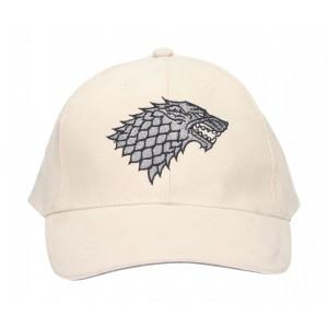 White baseball cap Stark