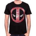 T-shirt Deadpool Logo métal
