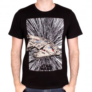 T-shirt Millennium Falcon jumps to light speed - Star Wars EP8