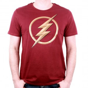 T-shirt The Flash Logo 3D rouge