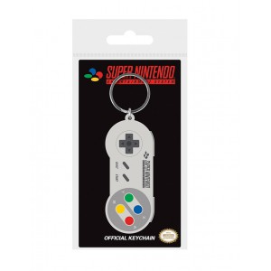 SNES controller rubber keychain