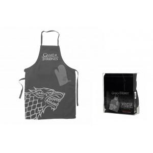 Stark kitchen set : apron and oven mitt