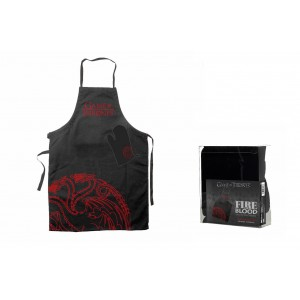 Targaryen kitchen set : apron and oven mitt