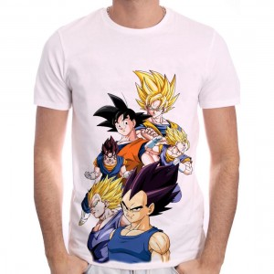 Goku & Vegeta T-shirt Transformation Dragon Ball Z