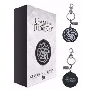 Porte-clé Targaryen Logo Argent Métal - Game of Thrones