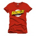 T-shirt homme Bazinga rouge (The Big Bang Theory)