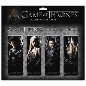 4 Marque-pages magnétiques Game Of Thrones