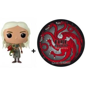 Pack figurine Daenerys + tapis de souris