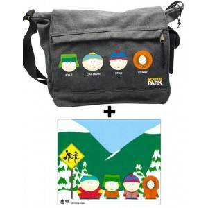 Pac South Park : tapis de souris + sac