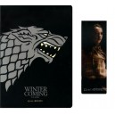 Notebook & Magnetic Bookmark Set Stark - Game of Thrones