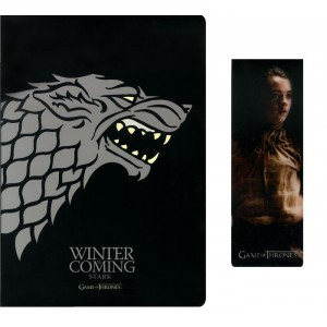 Carnet et marque-page Game Of Thrones, Stark