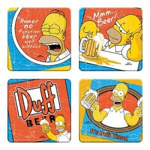 Sous-verres The Simpsons : bières Duff