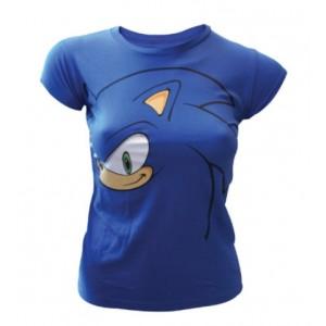 T-shirt Sonic bleu femme