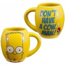 Mug Bart Simpson Don't have a cow man!