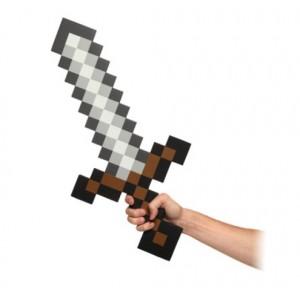 Réplique épée Minecraft en mousse 65cm