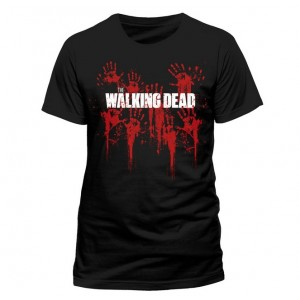 T-shirt The Walking Dead : Mains en sang