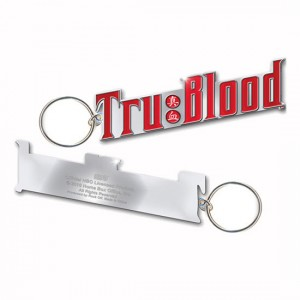 Porte-clé métal True Blood : logo Tru Blood