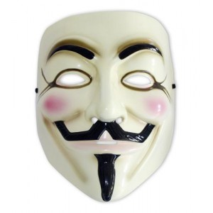 Réplique du masque de V For Vendetta