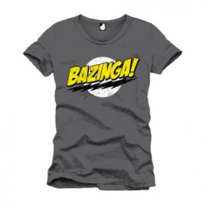 T-shirt Bazinga gris homme - The Big Bang Theory