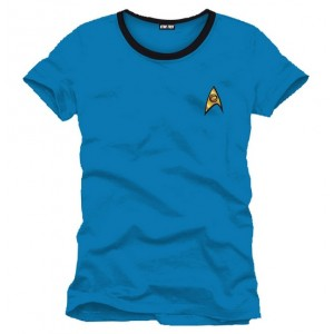 T-shirt Star Trek Uniforme bleu