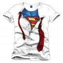 T-Shirt Superman Clark Kent blanc