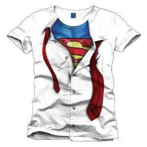 T-Shirt Superman blanc