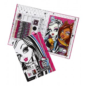 Mallette à dessin 19 pièces Monster High