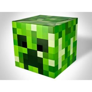 Tête en carton du Creeper de Minecraft 30cm
