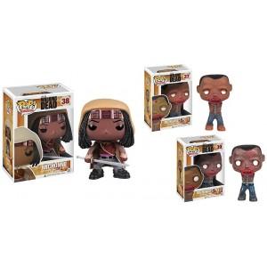 Pack figurines Michonne et ses 2 zombies Pop! vinyle