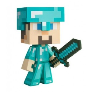 Figurine Diamond Steve - Minecraft 15cm