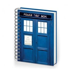 Cahier à spirale Tardis de Doctor Who (précommande)
