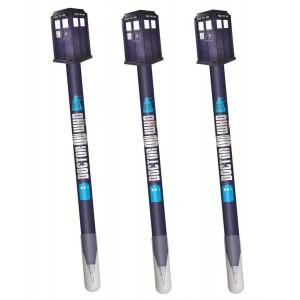 Pack de 3 stylos Tardis avec capuchon - Doctor Who