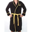 Batman logo fleece bathrobe