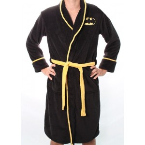 Batman logo fleece bathrobe for Peignoire de bain