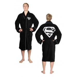 Peignoir de bain polaire Superman noir