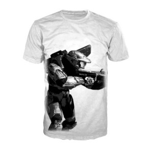 T-shirt Master Chief Halo 4 blanc