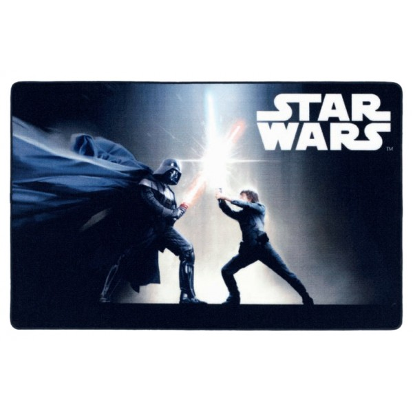 tapis star wars 100x160cm black fight. Black Bedroom Furniture Sets. Home Design Ideas