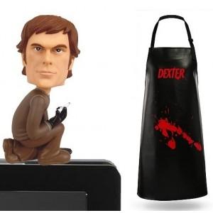 Pack Dexter : Tablier + Bobble-head d'écran