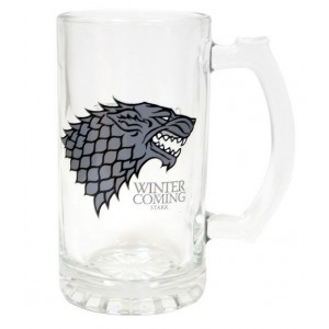 Chope en verre Stark de Game Of Thrones