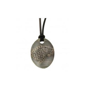 Pendentif bronze Maison Stark, Game Of Thrones